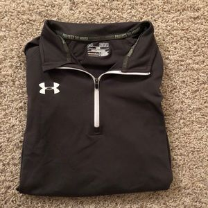 Under Armour Gray Quarter Zip Size Medium
